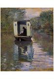 Claude Monet (The Boat Studio) Art Poster Print Posters