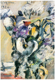 Lovis Corinth Chrysanthimums and Calla Lillies Art Print Poster Print