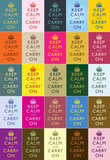 Keep Calm and Carry On Colorful Collage Poster Masterprint