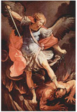 Guido Reni (Archangel Michael) Art Poster Print Plakater