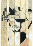 Juan Gris Guitar and Glass Cubism Art Print Poster Masterprint