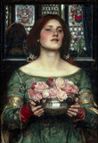 John William Waterhouse Rosebuds Art Print Poster Masterprint