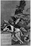 "Francisco de Goya y Lucientes (Follow the ""Caprichos,"" Sheet 43: The dream of reason Poster Posters"