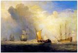 Joseph Mallord Turner Rotterdam Ferry Boats Art Print Poster Print