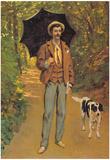 Claude Monet Portrait of Victor Jacquemont Art Print Poster Print
