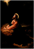 Gethsemane II (Jesus Praying) Art Poster Print Prints