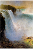 Frederick Edwin Church Niagara Falls from the American Side Art Print Poster Photo