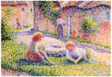 Camille Pissarro Children on a Farm Art Print Poster Prints