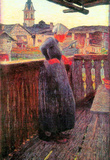 Giovanni Segantini On the Balcony Art Print Poster Masterprint