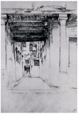James Whistler Venetian Court Art Print Poster Prints