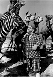 Clown with Circus Animals Archival Photo Poster Photo