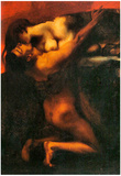 Franz von Stuck The Kiss of the Sphinx Art Print Poster Photo