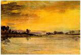 Joseph Mallord Turner Sunrise on the River Art Print Poster Posters