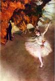 Edgar Germain Hilaire Degas (The Prima Ballerina) Art Poster Print Masterprint
