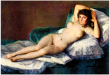 Francisco Goya The naked Maja Art Print Poster Photo