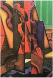 Juan Gris Violin and Guitar Art Print Poster Posters