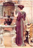 John Wililam Godward At the Garden Art Print Poster Photo