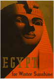 Egypt for Winter Sunshine Travel Vintage Ad Poster Print Print