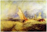 Joseph Mallord Turner Ships at Sea Art Print Poster Prints