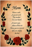 Mom poem Art Print POSTER Biggest Mothers Day Card! Photo