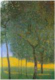 Gustav Klimt Fruit Trees Art Print Poster Posters