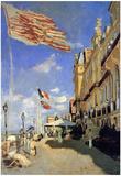 Claude Monet Hotel de Roches Noires a Trouville Art Print Poster Poster