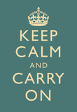 Keep Calm and Carry On Motivational Slate Art Print Poster Stampa di alta qualità
