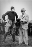Knute Rockne and Babe Ruth Archival Sports Photo Poster Posters