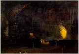 James Whistler Nocturne Black and Gold The Fire Wheel Art Print Poster Print