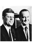 John F Kennedy (With Lyndon B Johnson) Art Poster Print Prints