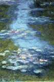 Claude Monet Water Lilies in Pond Art Print Poster Masterprint