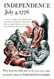 Independence July 4 1776 War Stamps Bonds WWII War Propaganda Art Print Poster Posters