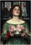 John William Waterhouse Rosebuds Art Print Poster Prints