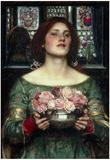 John William Waterhouse Rosebuds Art Print Poster Prints