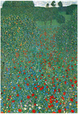 Gustav Klimt (Field of Poppies) Art Poster Print Poster