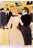 Henri de Toulouse-Lautrec At the Moulin Rouge la Goulue and her Sister Art Print Poster Prints