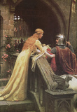 Edmund Blair Leighton (A Lady&#39;s Favor) Art Poster Print Masterprint