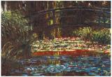 Claude Monet Water Lily Pond 1 Art Print Poster Prints
