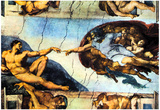 Michelangelo Creation of Adam Art Print Poster Posters