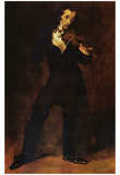 Eugène Ferdinand Victor Delacroix (Portrait of Paganini) Art Poster Print Posters
