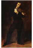 Eugène Ferdinand Victor Delacroix (Portrait of Paganini) Art Poster Print Plakaty