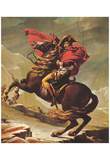 Jacques-Louis David (Napoleon Crossing the Alps) Art Poster Print Posters
