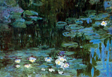 Claude Monet Water Lillies  1 Art Print Poster Masterprint