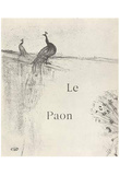 Henri de Toulouse-Lautrec - Illustration,The Peacock, Arr Print Poster Posters