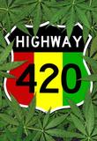 Highway 420 Marijuana Sign Poster Print Masterprint