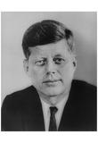 John F Kennedy (Portrait) Art Poster Print Print