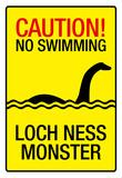 Caution Loch Ness Monster Sign Art Poster Print Plakater