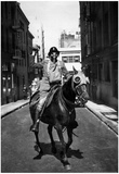 Man On Horseback Wearing Gas Mask Archival Photo Poster Posters
