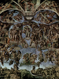MICHELANGELO Last Judgement ART POSTER Fresco PRINT Masterprint