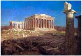 Frederick Edwin Church The Parthenon Art Print Poster Billeder